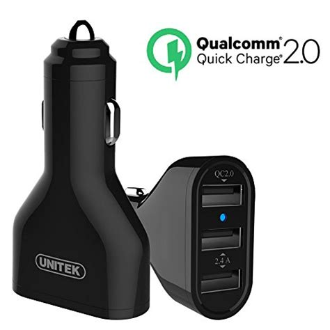 apple quick charge qualcomm certified unitek quick charge 2 0 42w 3 port