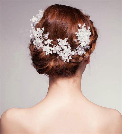 hair accessories brooch fancy wedding costume copper brooch hair buy wholesale elegant flower crystal bead bridal hairwear