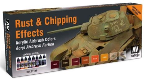 Vallejo 76550 Chipping Medium Model Kit michigan soldier company vallejo model air rust chipping effects paint set