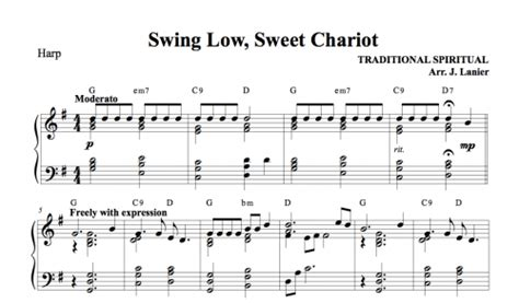 swing low swing chariot swing low sweet chariot for harp janet lanier