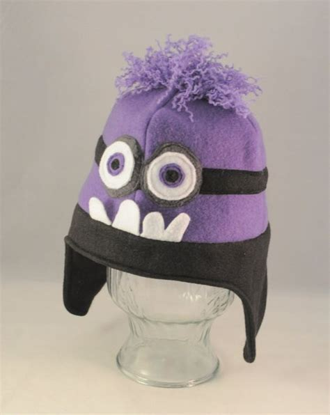 Purple Minion Hat Fleece | awesome hats and purple minions on pinterest