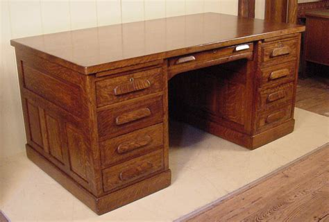 Kitchen Island Pictures Executive Oak Raised Panel Flat Top Desk