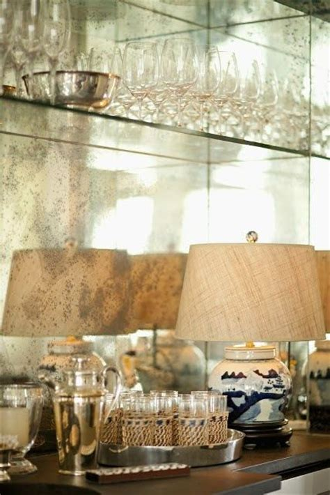antique mirrored backsplash for the bar for the home