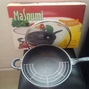 Panci Ukuran Jumbo alat masak panci wok pan jumbo 32 cm multi cook