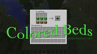 how to make a bed minecraft colored beds minecraft idea minecraft blog
