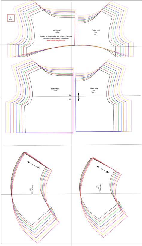 pattern basics understanding the cutting layout free sewing pattern the peplum top free sewing patterns