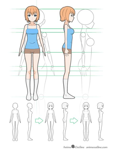 the master guide to drawing anime how to draw original how to draw anime girl body step by step tutorial anime