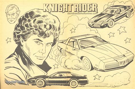 coloring pages knight rider knight rider kitt colouring pages page 2