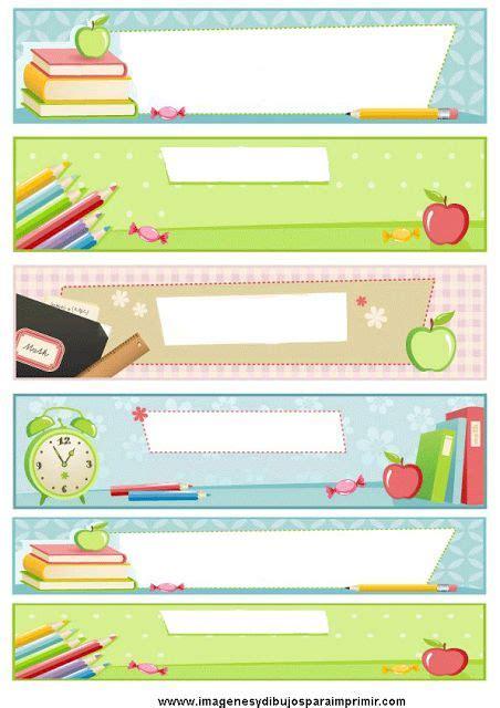 imagenes bonitas escolares etiquetas escolares para imprimir fondos bordes y marcos