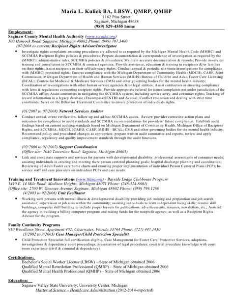 Child Protection Investigator Sle Resume by L Kulick Resume 6 05 12