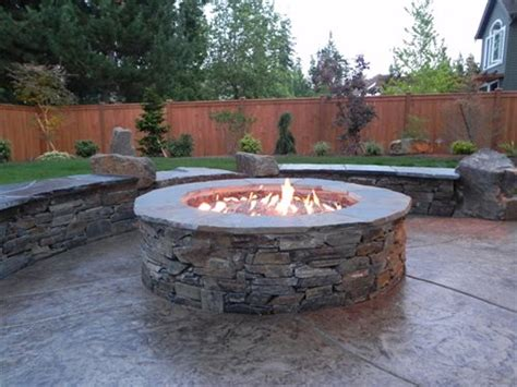 backyard gas fire pit backyard family retreat in northwestern washington