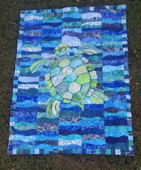 Sea Quilt Template created using this craftsy pattern