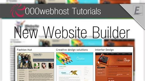 tutorial web builder 10 000webhost tutorials using the new website builder youtube