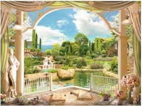 top roman wallpaper murals wallpapers aliexpress com buy 3d room wallpaper landscape balcony