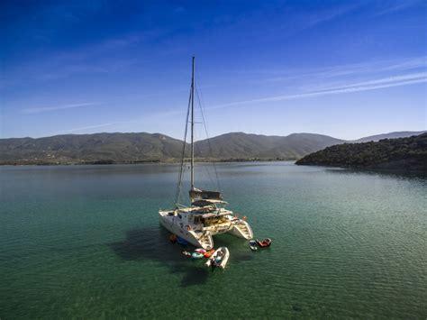 greek island catamaran charters elvira crewed catamaran charter greek islands