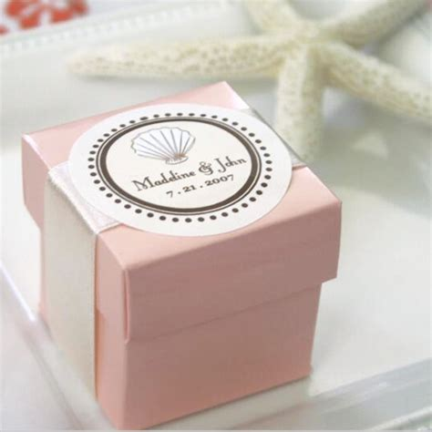 Wedding Favor Boxes Ideas by Personal Handmade Pink Paper Wedding Favour Box With Your
