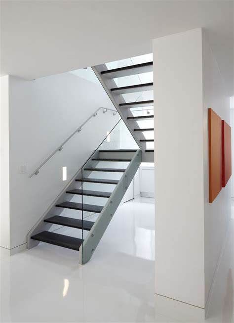 Minimalist Stairs Design White Minimalist Glass Staircase Renovation