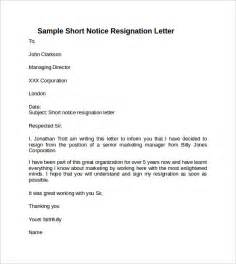 I Resign Letter by Resignation Letter Resignation Letter With Notice I Am Writing This Letter To Inform You