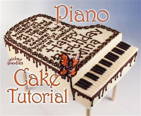 keyboard cake tutorial how to make a piano cake