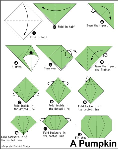 printable origami pumpkin instructions pumpkin easy origami instructions for kids
