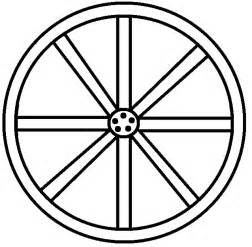 Wheel And Spoke Outline by Graphics By Ruth Western