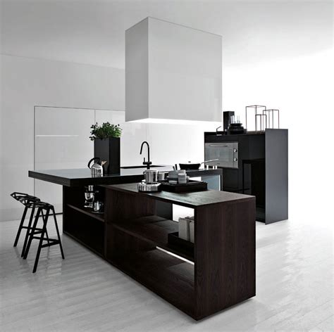 black  white modern kitchen  interior design
