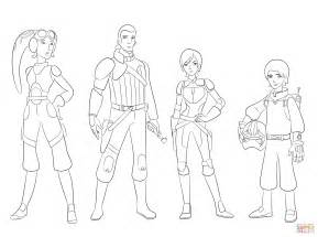 Wars Rebels Characters Coloring Page Free Printable