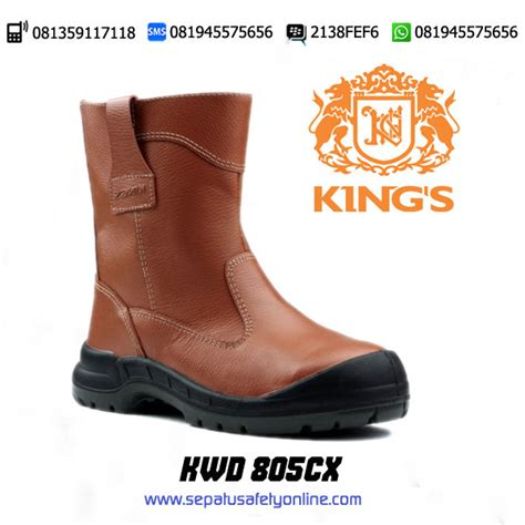 Sepatu Boot King kwd 805 cx sepatu safety boot untuk pertambangan