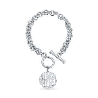 22 0mm monogram charm bracelet in sterling silver 3