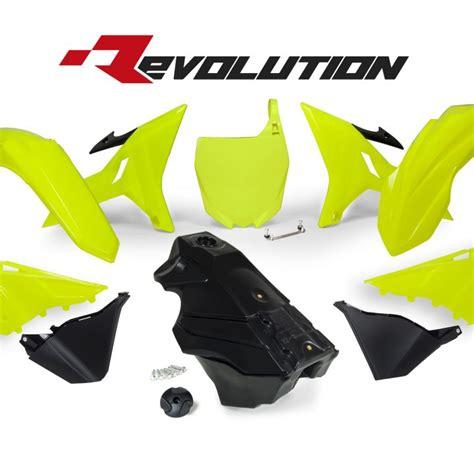 Set Yamaha Yz125 250 Rtech Revolution rtech revolution neon yellow yz plastics kit including