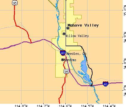 needles california map needles california ca 92363 profile population maps