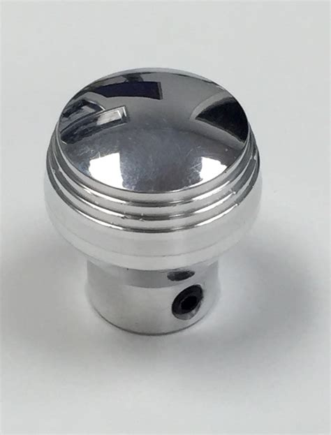 rod polished billet aluminum dash knob w set