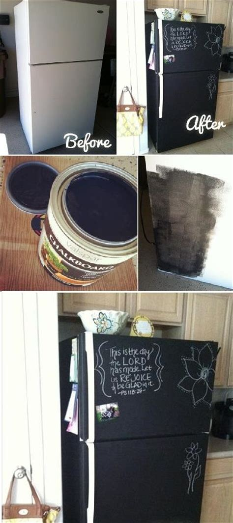 chalkboard painting your fridge diy home project paint your fridge using chalkboard paint