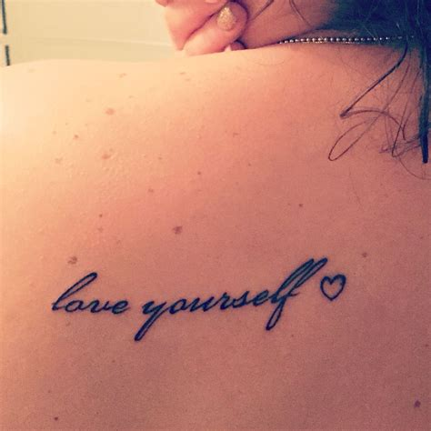 love yourself tattoos don t forget to yourself