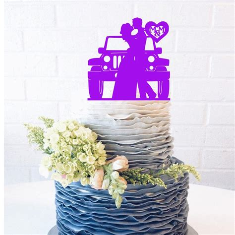 jeep cake topper jeep wedding cake topper jeep cake topper customize