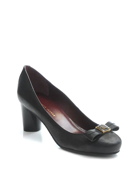 marc shoes marc by marc leather bow shoes in black lyst