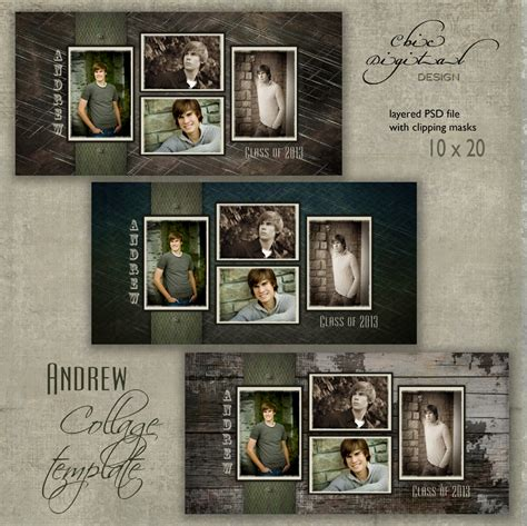 12 free senior photoshop templates images free