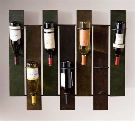 Modern Wall Wine Racks by Modern Wine Rack Wall With Durable Iron Construction