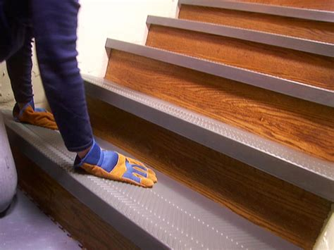 Non Slip Stair Rugs installing non slip stair treads how tos diy