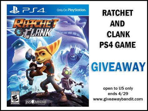 Ps4 Game Giveaway - ratchet and clank ps4 game giveaway the bandit lifestyle