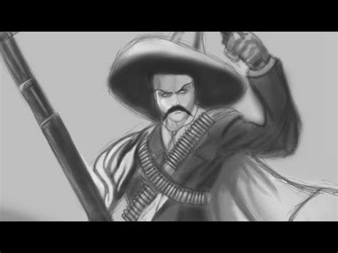 imagenes de emiliano zapata a lapiz revoluci 243 n mexicana speed painting youtube