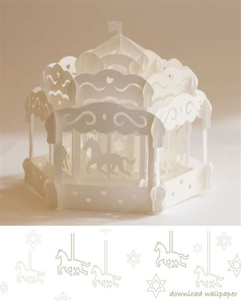 carousel pop up card origamic architecture pop up cards