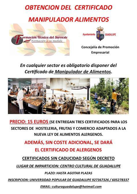 carnet de manipulador de alimentos gratuito magn 237 fico certificaci 243 n de manipulador de alimentos
