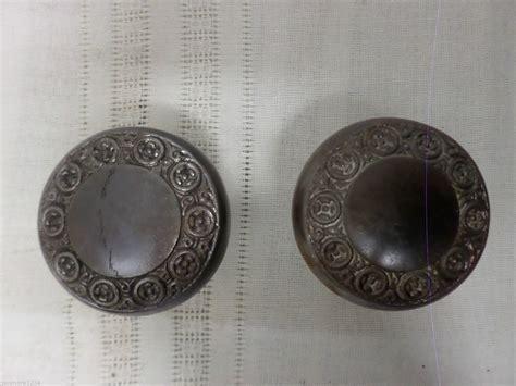 Ornate Door Knobs by Vintage Antique Door Knob Set Metal Ornate With