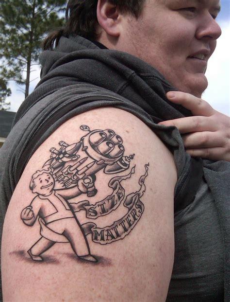 big guns tattoo vault boy by biggins82786 on deviantart