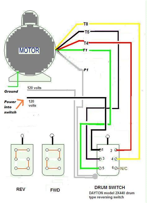 dayton reversing drum switch wiring diagram dayton get