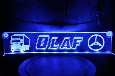 truckerschilder classic led namensschilder f 252 r lkw und pkw - Beleuchtung Namensschilder