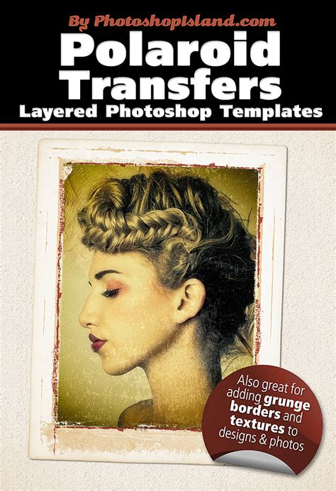 Polaroid Transfer Layered Photoshop Templates By Photoshopisland On Deviantart Layered Photoshop Templates