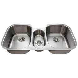 Kitchen Sinks Stainless Steel Undermount Polaris Sinks Undermount Stainless Steel 43 In Basin Kitchen Sink P1254 16 The Home Depot