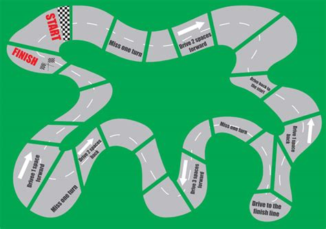 blank race track template racing car maths board free numeracy free